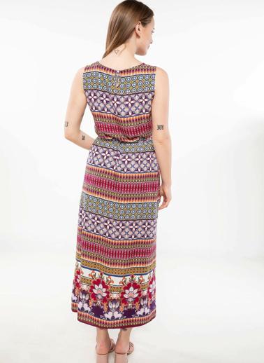 DeFacto Baskılı Trend Elbise Pembe